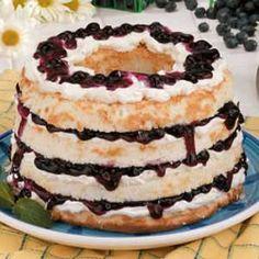 Blueberry Angel Torte Recipe