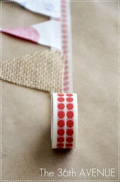 How to make a Washi Tape & Fabric NO Sew Bunting. Tutorial.