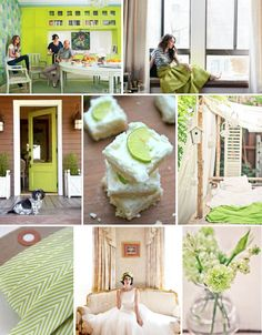 Mood Board Monday: Lime Green (http://blog.hgtv.com/design/2013/08/12/mood-board-monday-lime-green/?soc=pinterest)