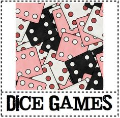 different dice games for addition, subtraction, multiplication, and division