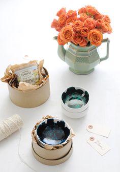DIY Brushstroke Glazed Mini Bowls | Creature Comforts