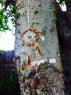 Dream Catcher Ornaments Feathered  by ApachesWife on Etsy, $12.00