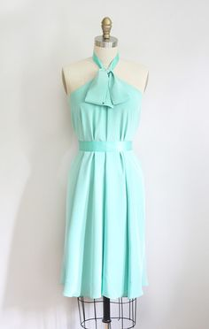 Simple and beautiful halter dress in Tiffany blue!
