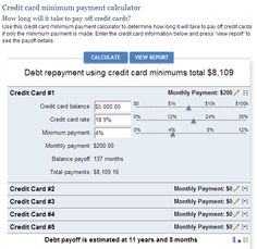Great credit card payoff calculator on Bankrate.com http://www.bankrate.com/calculators/credit-cards/credit-card-minimum-payment.aspx