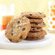 Big & Buttery Chocolate Chip Cookies Recipe from Taste of Home -- shared by Irene Yeh of Mequon, Wisconsin Cookie Cakes, Chocolate Chips, Choc Chip Cookies, Buttery Chocolate Chip Cookies, Chocol Chip, Big Cookie Recipe, Chocolate Cookies, Chocolate Chip Nut Cookies, Cooki Recip