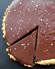 Chocolate-Caramel Tart with Sea Salt tarts, chocolates, seas, sea salt, bake, caramels, chocol caramel, salts, chocolatecaramel tart