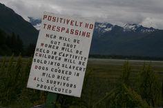 Sign in Alaska.
