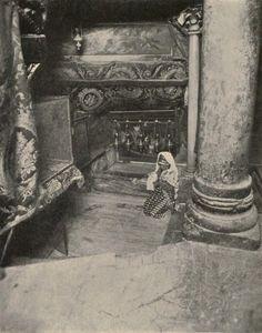 Bethlehem-بيت لحم: Women of Bethlehem 64 (1912, praying in the Church of the Nativity)
