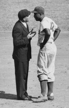 Brooklyn Dodgers, Jackie Robinson, umpire, Al Barlick, New York Giants, September 6, 1952
