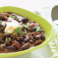 Healthy Game Day Menu (from the CarbLovers Diet Cookbook): Mexican Mole Chili