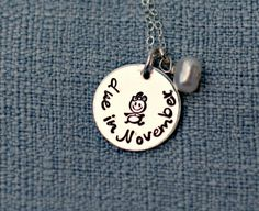 Personalized Coming Soon Due Date Necklace by 3LittlePixiesShoppe, $38.00