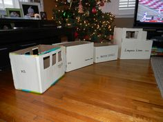 toy train for all the kids... made from diaper boxes