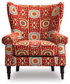 Funky Wingback Chair:  Sofa Mart: Evelyn Chair