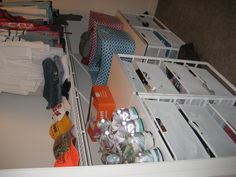 Off-campus apartment - elfa drawers moved into closet