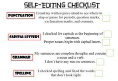 Self-Editing Writing Checklist
