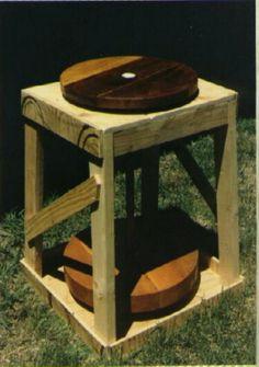 Potters wooden kick wheel design plans
