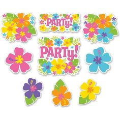 Pack 12 Cutouts Flores Hawainas http://www.airedefiesta.com/product/6747/0/0/1/1/Pack-12-Cutouts-Flores-Hawainas.htm