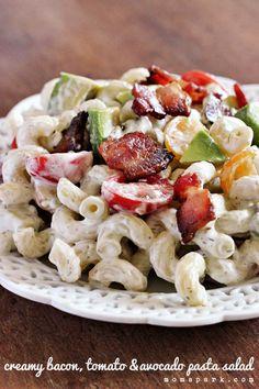 Creamy Bacon, Tomato, and Avocado Pasta Salad Recipe