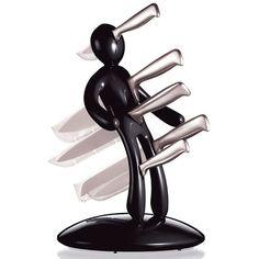 product, decor, funni stuff, raffael iannello, knife holder, knife black, awesom, kitchen, knives