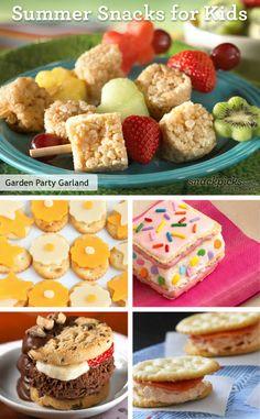 Kid-Friendly Sumer Snack Recipes  #Summer
