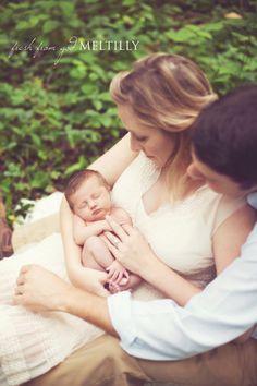 beautiful family pose + newborn
