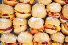 peach doughnut sliders