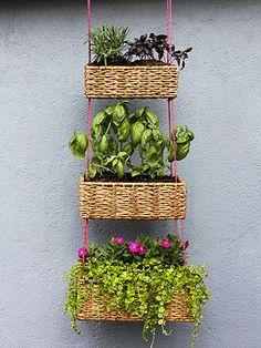 DIY Homemade Hanging Garden Baskets