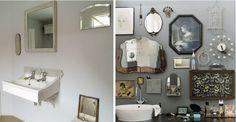 random mirrors in the bath: Remodelista