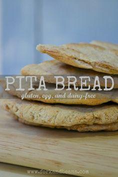 #Gluten-Free, #Nut-Free, #Vegan Pita Bread.