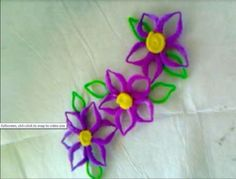 Cute flowers made from chenille stems.