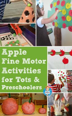 Apple themed fine motor activities for toddlers and preschoolers - perfect for Tot School