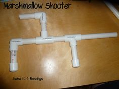 Mama to 4 Blessings - Our Homeschool Blog: HOW TO MAKE A MARSHMALLOW SHOOTER (TUTORIAL) http://mamato3blessings.blogspot.com/2013/02/how-to-make-marshmallow-shooter-tutorial.html