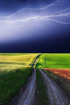 sunshine and lightning. wow!