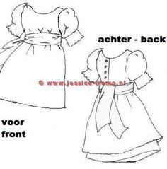 free dress patterns antique bisque dolls clothes