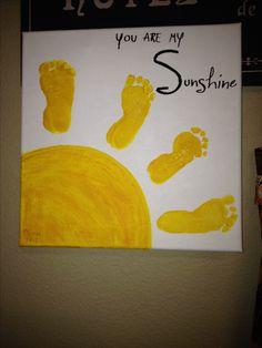 Handprint art - sunshine feet