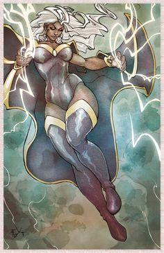 stormxmen, marvel, von lehmann, art, comic book