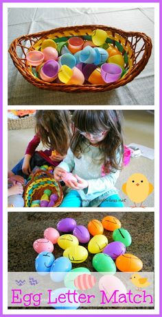 Easter Egg Letter Matching Game: Finally a use for all those plastic eggs that seem to multiply every year! #easter