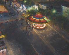 View from the Ferris Wheel by Jennifer McChristian Oil ~ 16 x 20