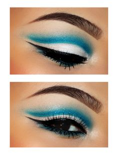 Sky Blue Cut Crease...This is gorgeous!!!