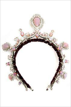Think pink! Robert Sorrell Tiara, from Carole Tanenbaum Vintage Collection