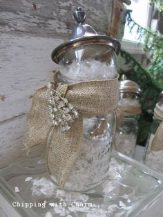 Chipping with Charm: Canning Jar Snowman...http://www.chippingwithcharm.blogspot.com/