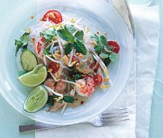 Thai Chicken and Shrimp Noodle Salad Recipe | Epicurious.com