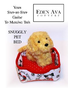 Snuggly Pet Bed girl doll, doll clothes patterns, bed pattern, doll pattern, pet beds, eden ava, ag dolls, sewing patterns, american girls