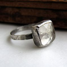 Sterling and quartz ring