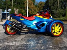 Custom Can Am. Very Colorful. Very Cool.    Ridewright Wheels #36