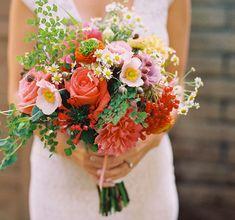 A bright red bridal #bouquet | Brides.com
