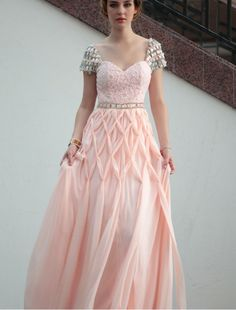 A-Line Dress with Braided Style Skirt