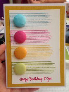card idea, washi tape birthday cards, flair idea, button, gorgeous grunge cards, stampin, rainbow stripe