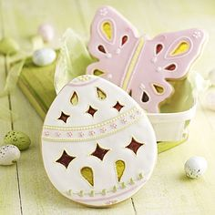 Nice Easter egg and butterfly cookies (Lakeland).