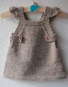 Ravelry: Summer Into Fall pattern by Lisa Chemery #frogginette #knittingpattern #tricot #dress #pinafore #jumper #robe #babyknit